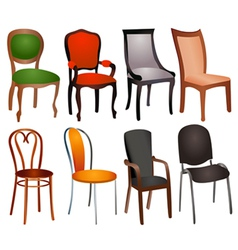 Chairs Set vector image
