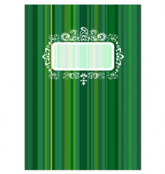 copybook cover with floral ornament vector image vector image