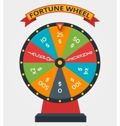 Fortune wheel in flat style vector image vector image