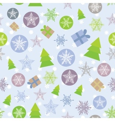 Seamless background Merry Christmas Card green vector image