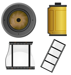 set of objects for a photo vector image vector image