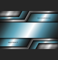 Abstract metal background with turquoise elements vector image vector image