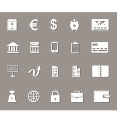 Business money and finance web icons set vector image