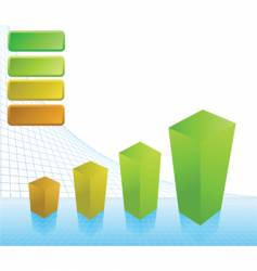 business profit chart vector image vector image