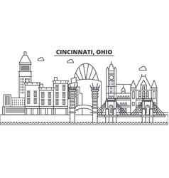 Cincinnati ohio architecture line skyline vector