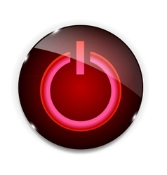 Glass power button icon vector image vector image