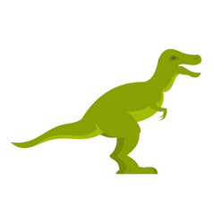 green theropod dinosaur icon isolated vector image