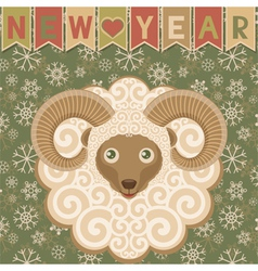 New year with ram vector image
