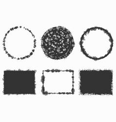 random grunge stamps vector image vector image