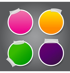 Tag Banner 014 Set of circle label Tag Banner with vector image vector image