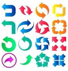 Arrow signs icons vector image vector image