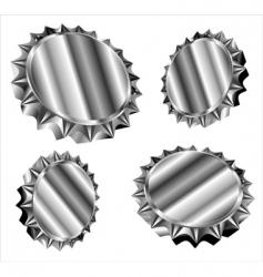 bottle caps or gears vector image