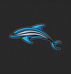 dolphin logo icon design template vector image vector image