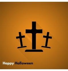 Happy Halloween Gravestone icon vector image
