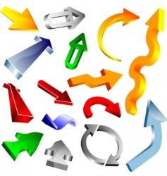 3d vector arrow collection vector image vector image