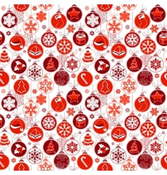 Christmas pattern with vintage balls vector image