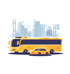 city public transport vector image vector image