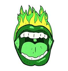 comic cartoon halloween mouth vector image vector image