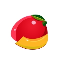 Mango Flat Sticker vector image
