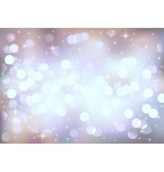 Pastel festive lights background vector image vector image