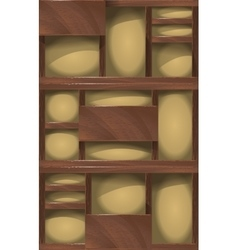 wooden shelves background vector image vector image