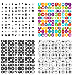 100 box icons set variant vector