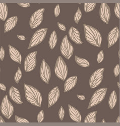 Abstract floral seamless pattern in a shape vector