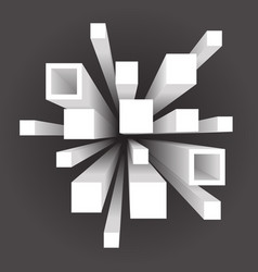 Abstract geometric square extension movement vector
