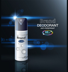 Ads antiperspirant deodorant vector
