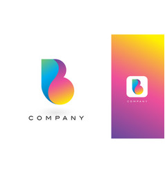 B logo letter with rainbow vibrant beautiful vector
