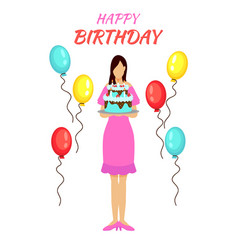 birthday party greeting concept vector image
