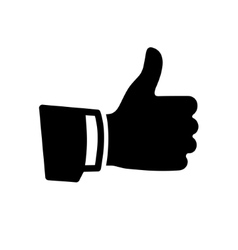 Black Thumb Up Icon vector