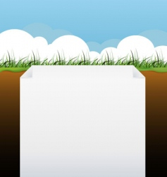 blank page with grass banner vector image