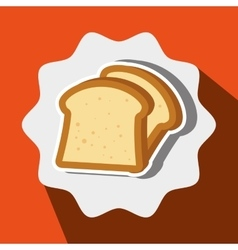 Bread slice isolated icon design vector
