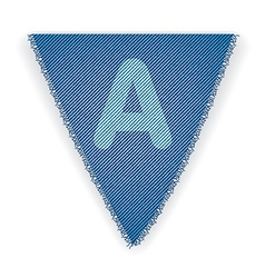 Bunting flag letter a vector
