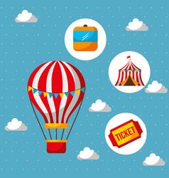 Carnival fun fair vector