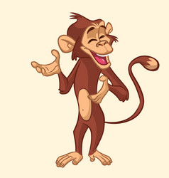 cartoon monkey smiling vector image