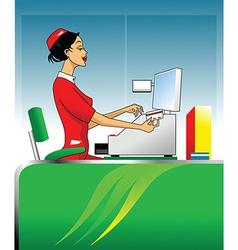 Cashier vector image