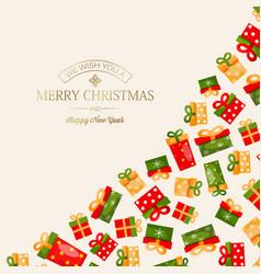 Celebrating merry christmas template vector