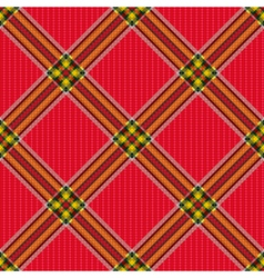 Checkered diagonal tartan fabric seamless pattern vector image