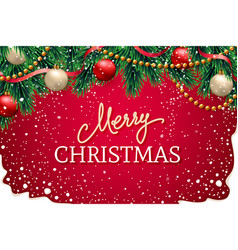 christmas design for greeting card or site header vector image