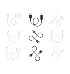 Collection cables vector