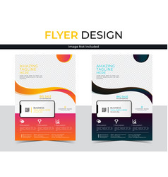 Corporate flyer leaflet brochure template set vector
