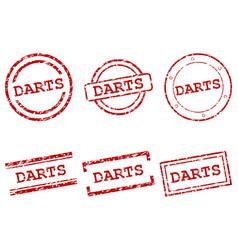 Darts stamps vector
