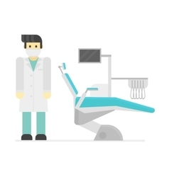 Dental chair clinic vector image