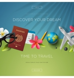 Discover your dream time to travel vector