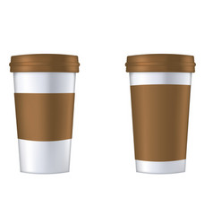 Disposable coffee cup template vector