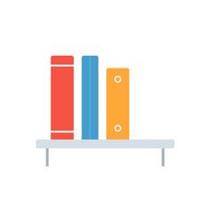 flat icon bookshelf element flat icon bookshop vector image