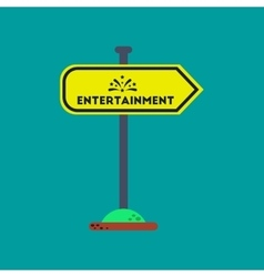 flat icon on background sign entertainment vector image