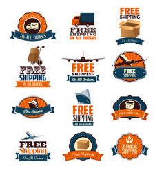 free shipping icons vector image